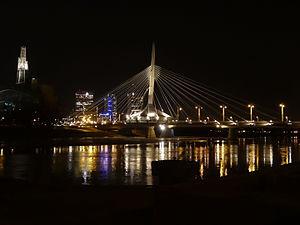 Photo of Winnipeg at night