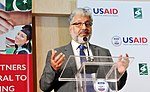 Dr. Muktar Ahmed, Chairman of the Higher Education Commission thanking USAID for the continued support. (34651976046).jpg