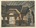 Drawing, Stage Design, Fortified Castle Interior, early 19th century (CH 18359699).jpg