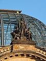 Dresden Hauptbahnhof Cupola with Saxonia 02.JPG