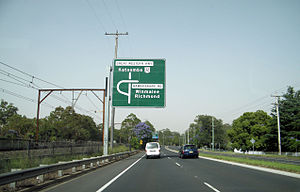 Great Western Highway - Travelling westbound on the Great Western Highway at Springwood