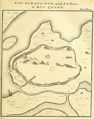 Wuchang District - A French map of Wuchang as of the early 18th century