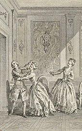 Duclos nach Gravelot: Eugénie, 3. Akt, Szene 8 (1767) (Quelle: Wikimedia)