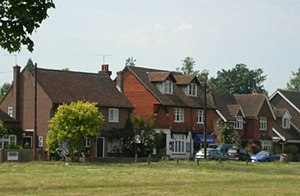 Dunsfold - Central housing and shop