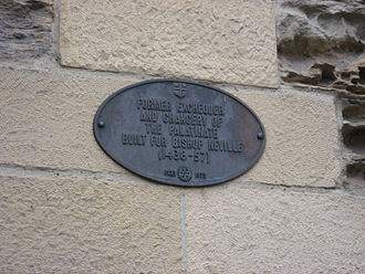 County Palatine of Durham - Durham palatinate plaque.