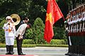 Duterte and Vietnamese President Tran Dai Quang bend over to show respect during a ceremony at the State Palace in Hanoi on September 29.jpg