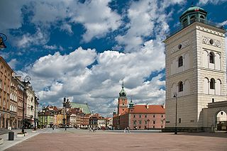 square in Warsaw, Poland