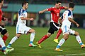 EM-Qualifikationsspiel Österreich-Russland 2014-11-15 060 Viktor Fayzulin Christoph Leitgeb Roman Shirokov.jpg