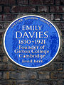 EMILY DAVIES 1830-1921 Founder of Girton College Cambridge lived here.jpg