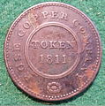 ENGLAND, BIRMINGHAM and SWANSEA -ROSE COPPER COMPANY HALFPENNY TOKEN 1811 b - Flickr - woody1778a.jpg