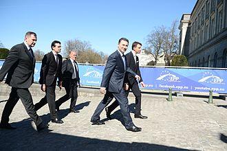 Nikola Gruevski - European People's Party Summit in Brussels in March 2014