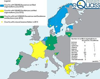 European Quality in Social Services - Image: EQUASS certified organisations