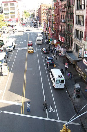 East Broadway (Manhattan) - East Broadway as seen from the Manhattan Bridge.