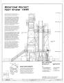 East Elevation - Marshall Space Flight Center, Redstone Rocket (Missile) Test Stand, Dodd Road, Huntsville, Madison County, AL HAER ALA,45-HUVI.V,7A- (sheet 3 of 7).png