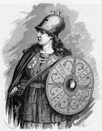 A stereotypical operatic Valkyrie, from Fredri...
