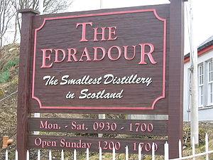 Edradour distillery, Pitlochry, Scotland.