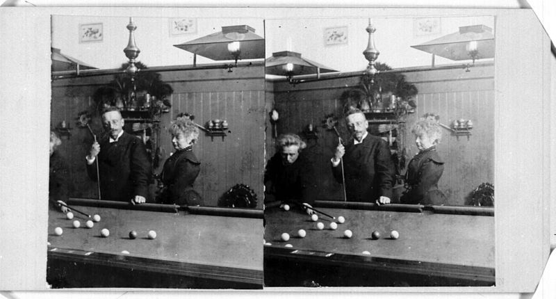 File:Edvard & Nina Grieg with friend by pool table (5509170072).jpg