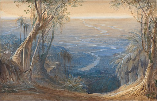 Edward Lear - Plains of Bengal, from above Siligoree - Google Art Project