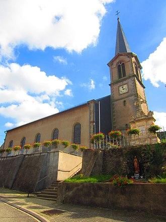 Hargarten-aux-Mines - The church in Hargarten-aux-Mines