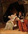 Eglon van der Neer en Adriaen van der Werff - Jonge vrouw die een ring bekijkt en jonge man in een interieur - ГЭ-1066 - Hermitage Museum.jpg
