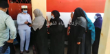 A photo from a polling station in Aswan