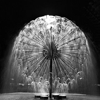 El Alamein Fountain - Night photo of El Alamein Memorial Fountain