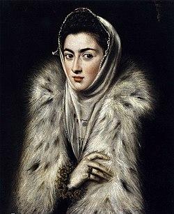 El Greco, Dam i päls.jpg