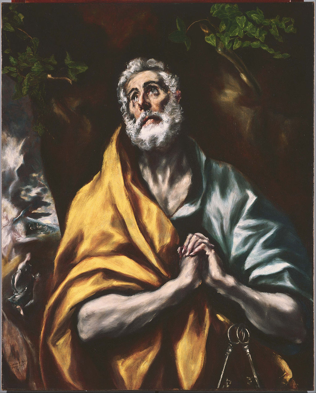 """The Repentant Saint Peter"" by El Greco"