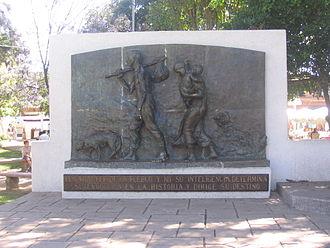 """Nicolás Palacios - Monument to """"Chilean Race"""", Nicolás Palacios."""