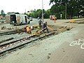 Elbląg, 3 Maja, stavební práce na tramvajové trati.JPG