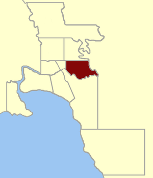 Electoral district of Richmond (Victoria) - Image: Electoral district of Richmond 1859