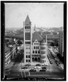 Elevated view of south (main) elevation - Syracuse City Hall, Washington Street, Syracuse, Onondaga County, NY HABS NY,34-SYRA,5-1.tif