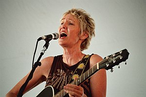 Eliza Gilkyson on the Custom House Stage