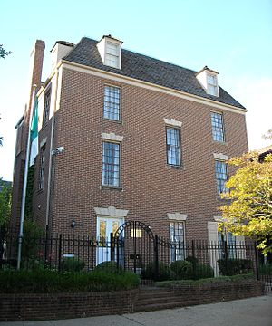 Algeria–United States relations - Algerian embassy in Washington D.C., United States.