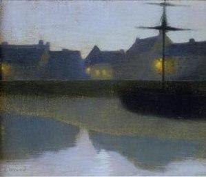 Émile-René Ménard - Crépuscule sur le canal (1894 oil on canvas)