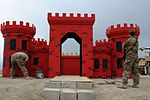 Engineer trooper paints castle for competition in Afghanistan 140421-A-MU632-634.jpg
