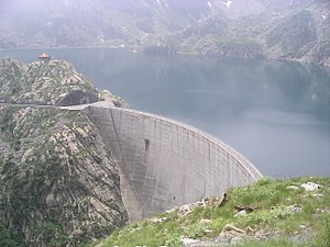 Hydroelectricity in Italy - Chiotas Dam at Entracque