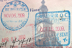 Entry And Exit Stamps At Kaohsiung International Airport In A US Passport