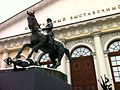 Equestrian statue of Georgy Zhukov at entrance of Moscow Manege (2).jpg