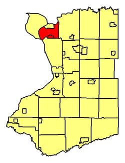 Location of Tonawanda withintonawanda town