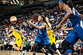 Erlana Larkins (2) passes the ball in the Lynx vs Fever game.jpg