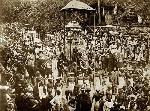 Esala Perehera festival, around 1885