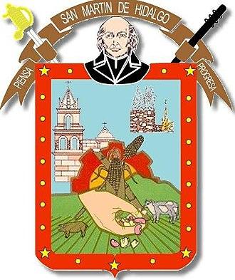 San Martín de Hidalgo - Image: Escudosanmartindehid algo