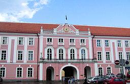 The Estonian Parliament building in Tallinn