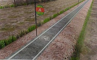 Cycle track - Image: Etawahagra