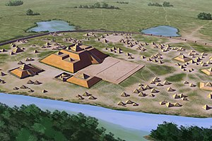 Etowah Indian Mounds - Artists conception of Etowah
