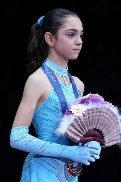 Evgenia Medvedeva at the Junior Grand Prix Final 2013 - Awarding ceremony 02.jpg