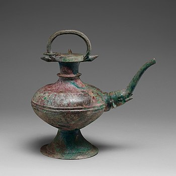 Bronze ewer with elephant-headed spout, Vietnam, late 2nd–3rd century