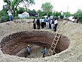 Excavations of a biogas dome visited by project partners (6593072973).jpg