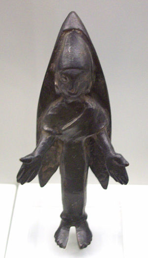 Bastetani - Bronze votive feminine figure of the Bastetani